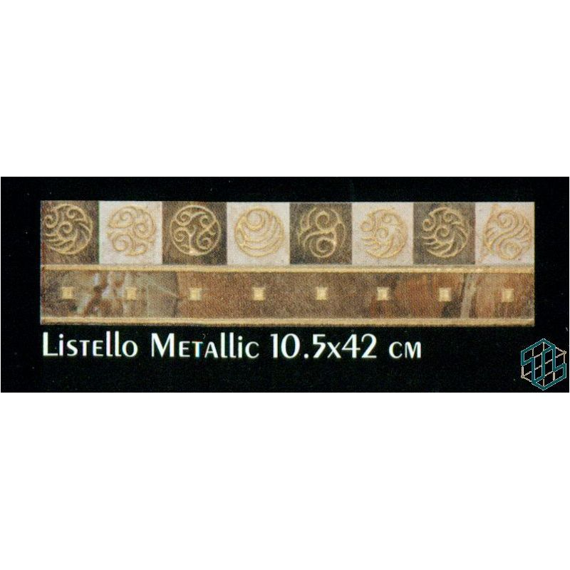 ceramic bistrot listello metallic 10 5 42 cm flooring