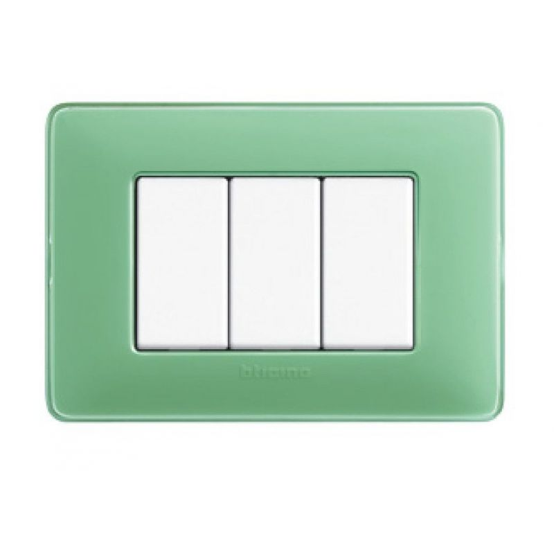 Green Tea Colours Cover Plates Three Modules