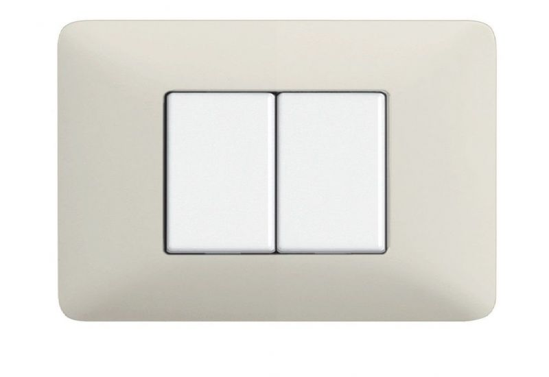 Ash Whites Cover Plates Two Modules